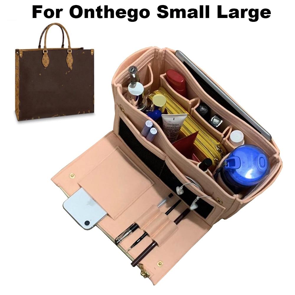 Pour ONTHEGO, S/L, 3MM fait main Premium feutre fourre-tout organisateur sac à main insérer sac maquillage intérieur sac à main cosmétique maman sac