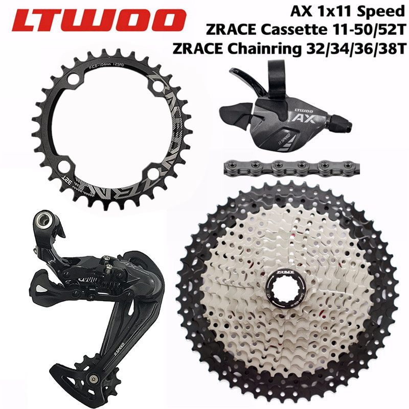 LTWOO AX 11 Speed Shifter + Rear Derailleur + ZRACE Cassette / 104BCD Chainring + YBN 11s Chain Groupset for PCR BEYOND M8000
