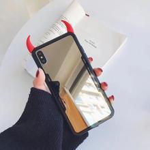 ALLCHW Honor 10Lite 9i DIY Devil horn Mirror Phone case For