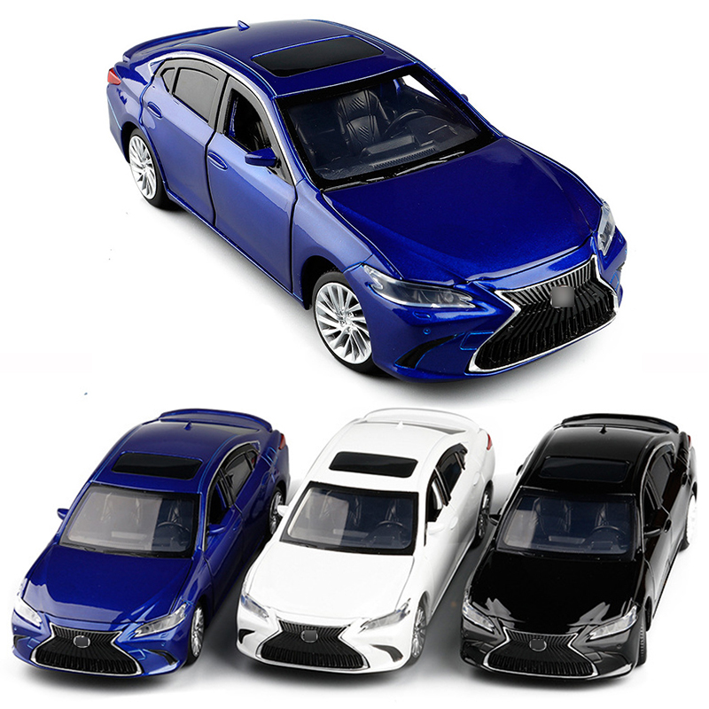 1/32 2020 New Arrival 3 Colors ES300 Luxury Diecast Model Car Toys With Sound Light Car Gifts Collection V248