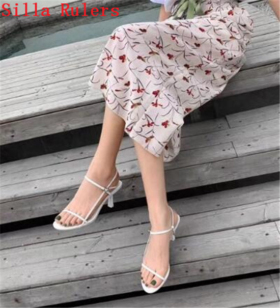 Trendy Thin Word Band Women Sandals 2019 Simple High Heels Leather Gladiator Sandals Women Summer Shoes Woman sandalias mujer (10)