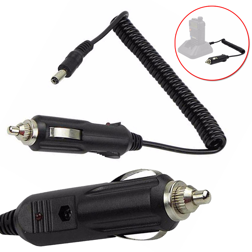 Newest Universal Car Charger For BaoFeng Walkie UV-5R TG-UV2 TH-UVF1 Two Way Radio Car Charger Cable