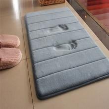 1PC 40x60cm Home Bath Mat Non slip Bathroom Carpet Soft Coral Fleece Memory Foam Rug Mat kitchen Toilet Floor Decor
