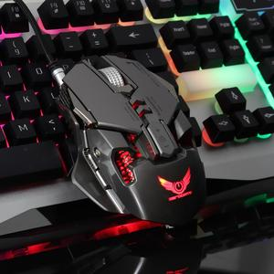 Image 4 - Wired Gaming Mouse 3200DPI Adjustable weight macro definition Wired Mouse Professional Grade Gamer Mice LED for Computer PC PUBG