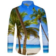 2019 Summer Casual Mens Long Sleeve Shirts Beach for Men Dropshipping