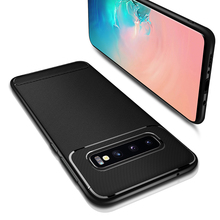 Funda de teléfono de fibra de carbono para Samsung Galaxy A70 A50 cubierta en SM Soft A30 A40 A20 M30 M10 M20 S10 s9 Plus funda de silicona a prueba de golpes