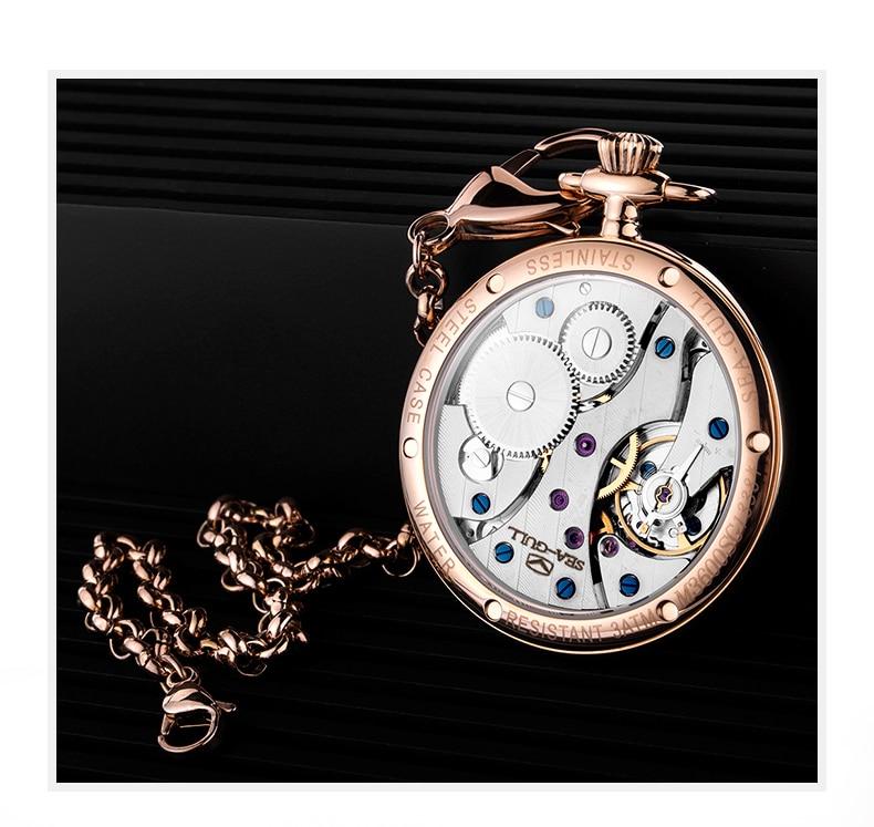 mecânica-relógio automático relógio de pulso masculino marca