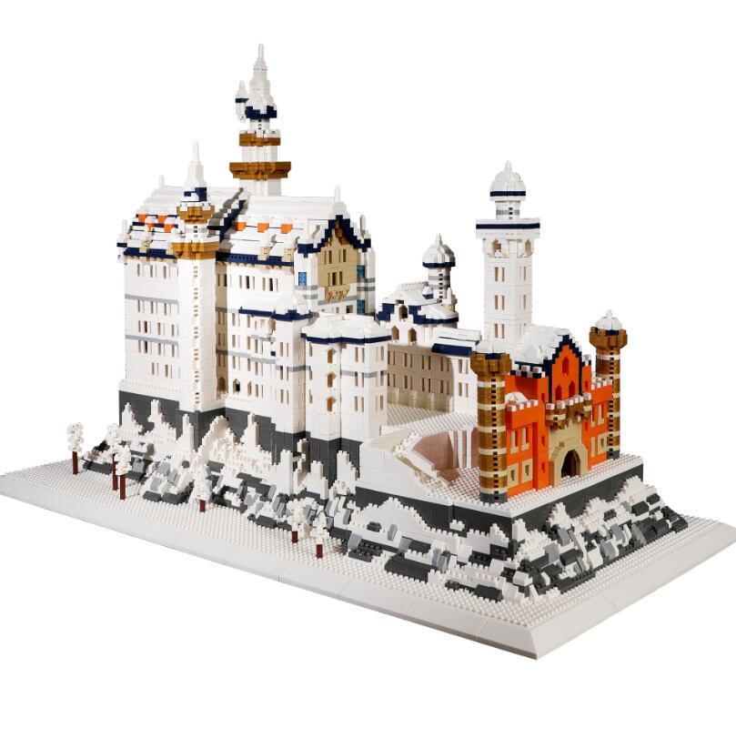 Строительные блоки город Лебединое озеро замок из кубиков