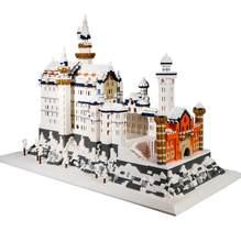 Blocos de construção cidade cisne lago castelo blocos diy pequenas partículas modelo blocos de construção tijolos para crianças presentes de natal