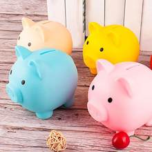Cartoon Pig Shaped Money Boxes Children Toys Birthday Gift Home Decor Money Saving boxes Piggy Bank 1Pcs Coins Storage Box(China)