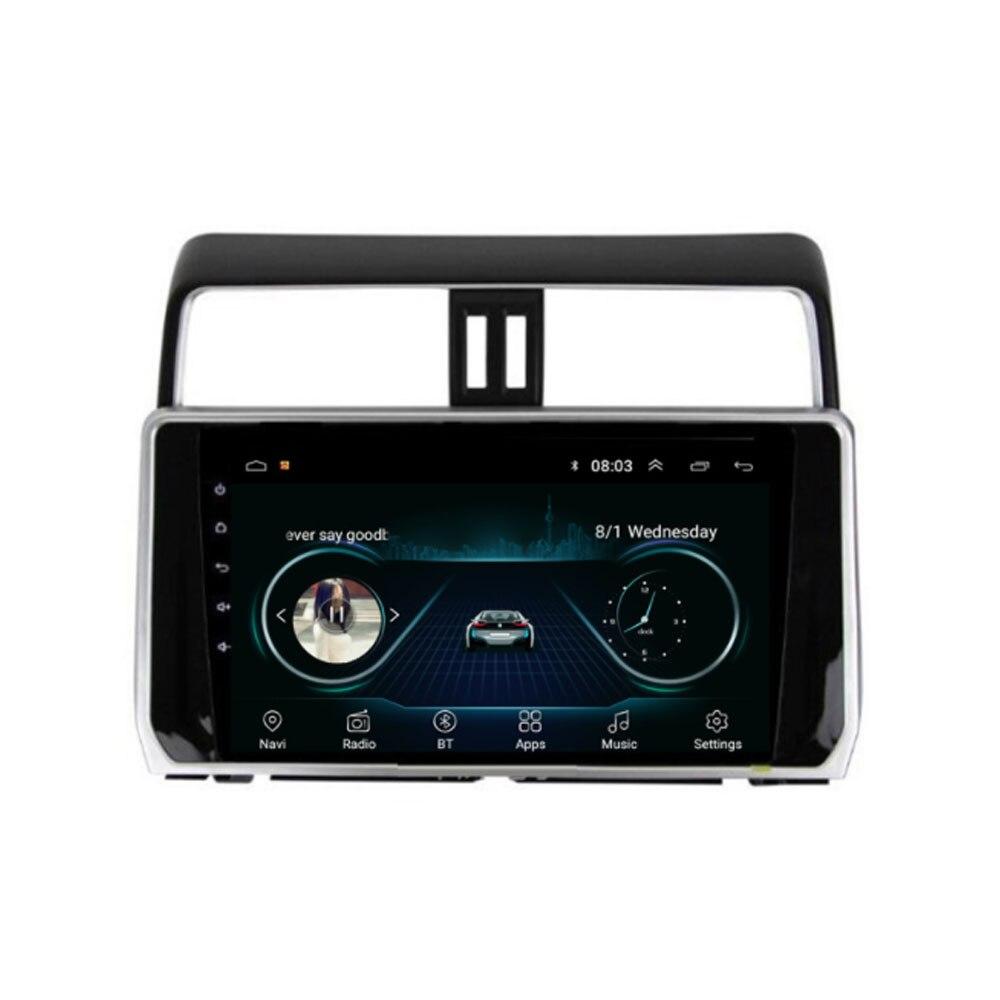 Quad core Android 8.1 Fit TOYOTA PRADO 2018 2019 2020-multimédia stéréo voiture lecteur DVD Navigation GPS Radio