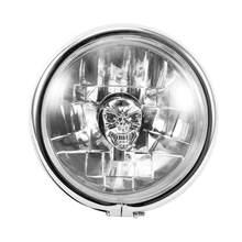 Faro LED Retro para motocicleta, 5,75 pulgadas, cromado, para Yamaha, Honda, Kawasaki, Suzuki, Ducati