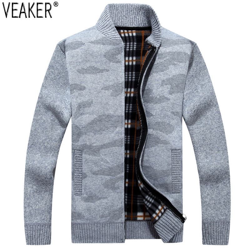 2019 New Men's Autumn Sweater Coat Male Winter Warm Jackets Outerwear Casual Zipper Knitted Sweatercoat M-3XL
