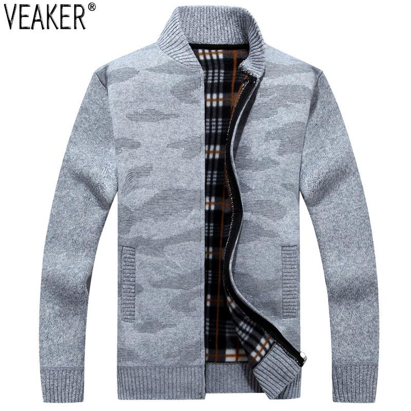 2019 New Men's Autumn Sweater Coat Male Winter Warm Jackets Outerwear Casual Zipper Knitted Sweatercoat M-3XL