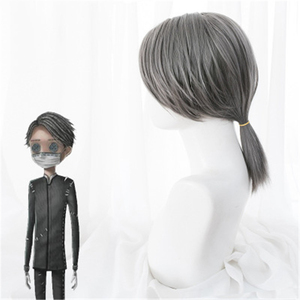 Image 3 - משחק זהות V פאת קוספליי Embalmer איזופוס קרל תפקיד לשחק פאות סינטטי שיער ליל כל הקדושים מפלגה ביצועים תלבושות פאה + כובע פאה