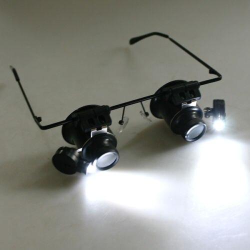 Увеличительное стекло для глаз, ювелирное увеличительное стекло 20X, светодиодный инструмент для ремонта часов, светильник для камеры