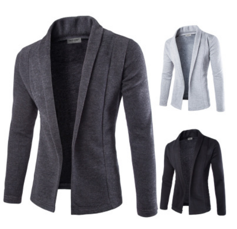 ZOGAA Casual Men Blazer Guys Boys Long Sleeve Solid Color Casual Blazer Coats Male Formal Slim Fit Fashion Blazer Jacket 2019