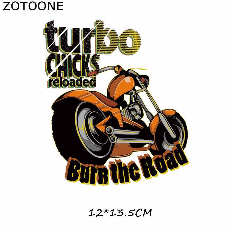 ZOTOONE รถจักรยานยนต์ Patches สำหรับเสื้อผ้า DIY โอนความร้อนสติกเกอร์บนรถ Patch สำหรับเด็กผ้า Appliques H
