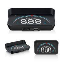 Car-Styling M8 Auto Hud Head Up Display Hud Display Overspeed Warning Windshield Car Speed Projector Alarm System hot a8 hud auto diagnostic scanner car head up display car detector speed projector on windshield hud display car with obd2