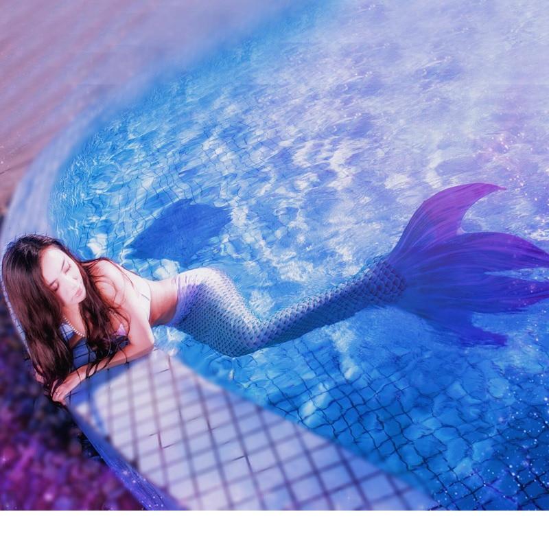 Nouveau style la plage sirène queue adulte maillot de bain fille fission bikini personnes poisson vacances vêtements peau body