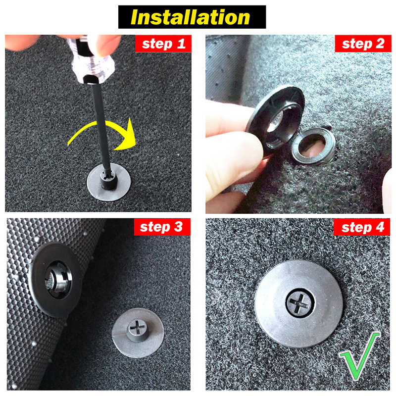 Image 5 - 4 Sets of Car Fastener Universal Floor Mat Clips Carpet Fixing Clamps Buckles For VW Nissan Peugeot Subaru Toyota Honda Mazda-in Auto Fastener & Clip from Automobiles & Motorcycles