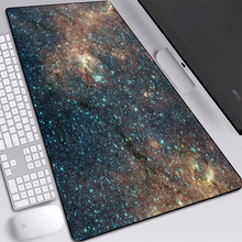 Starry Sky Pad Mice Dirt-resist Big Mouse Pad Eco-friendly Rubber Material Computer Pad for Gaming Mouse Pad 60*30/70*30/80*30cm daisy flower and blue sky round mouse pad