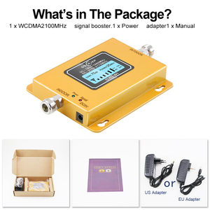 Image 5 - 70db 3g 2100 Repeater Cell Phone Signal  Repeater Mobile 2100MHz Signal Booster Amplifier LCD LTE WCDMA UMTS Dropshipping