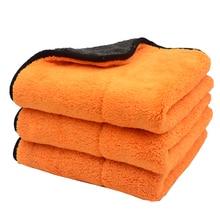 3PCS 45cmx38cm 800GSM Super Thick Plush Microfiber Car Cleaning Cloths Car Care Microfibre Wax Polishing Detailing Towels Soft