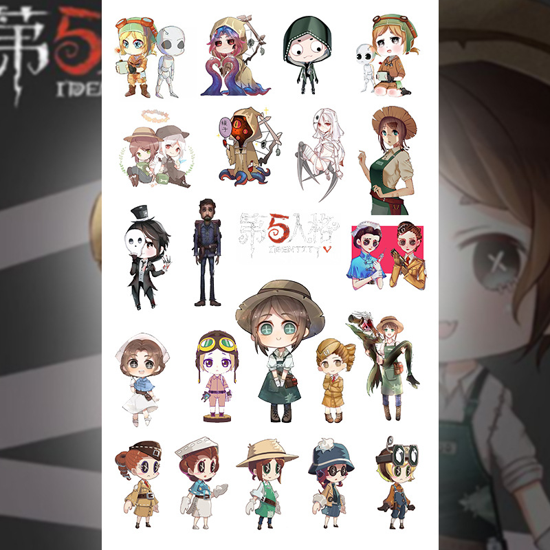 Anime stickers cartoon exquisite pvc ornaments anime GINTAMA/Platelet/Magic Ancestors transparent