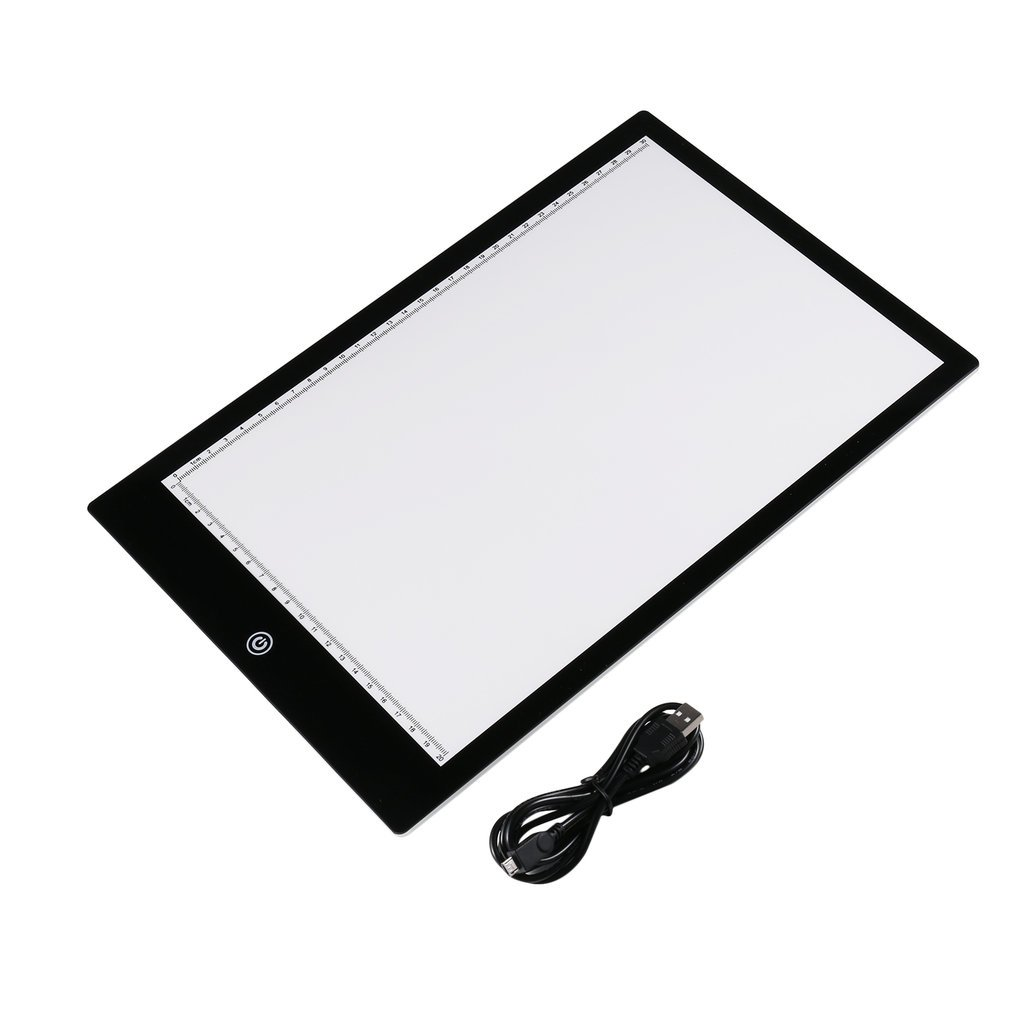 Acrylic 5mm Super Thin A4 Size Flicker-Free LED Drawing Copy Tracing Stencil Board Table Tattoo Pad Translucent Light Box USB