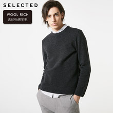 SELECTED 남성용 겨울 라운드 넥 라인 울 스웨터 스웨터 New Woolen Knitted Clothes S | 419125503(China)