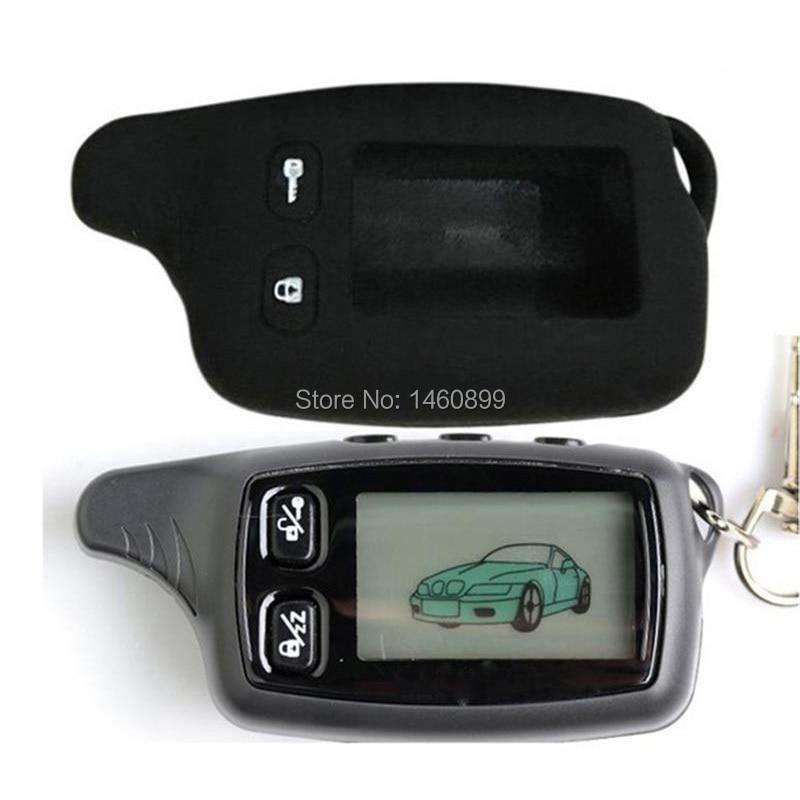 TW9030 TW9020 LCD Remote Control Key + Silicone Case for Russia TW 9030 9020 two way car alarm Tomahawk TW-9030 TW-9020 Keychain