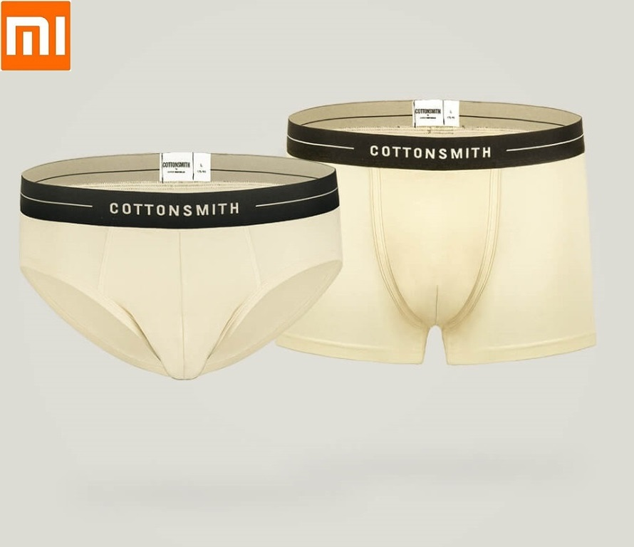 Xiaomi COTTONSMITH Men Nude Cotton Antibacterial Underwear Pants Briefs Flat Angle Pants Comfortable And Breathable