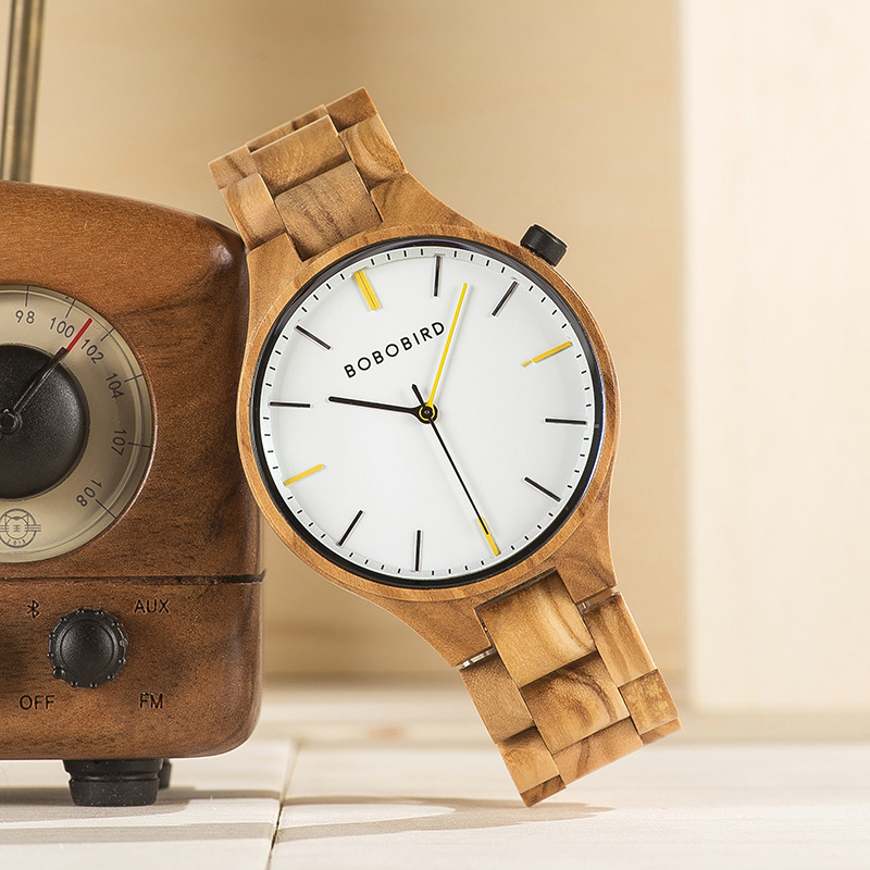 BOBO BIRD Men Wood Watch W-S27