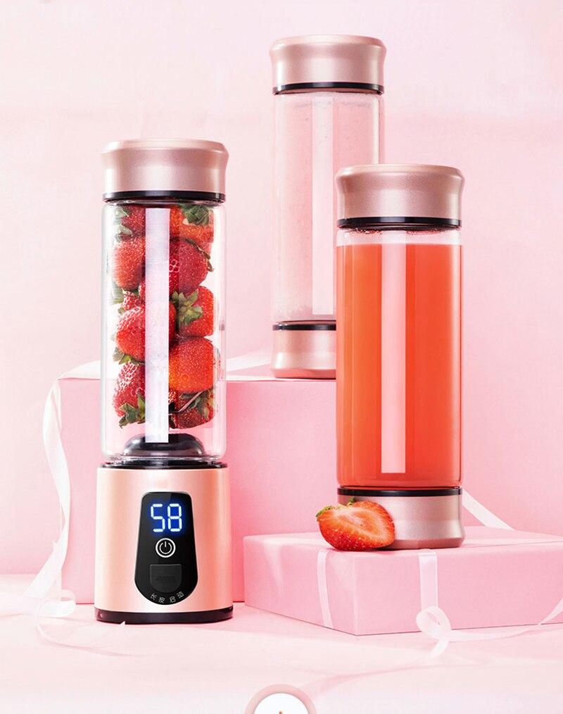 Hb7e9f94af9b042fd87d664874a544968k Portable Electric Juicer Blender USB Mini Fruit Mixers Juicers Fruit Extractors Food Milkshake Multifunction Juice Maker Machine
