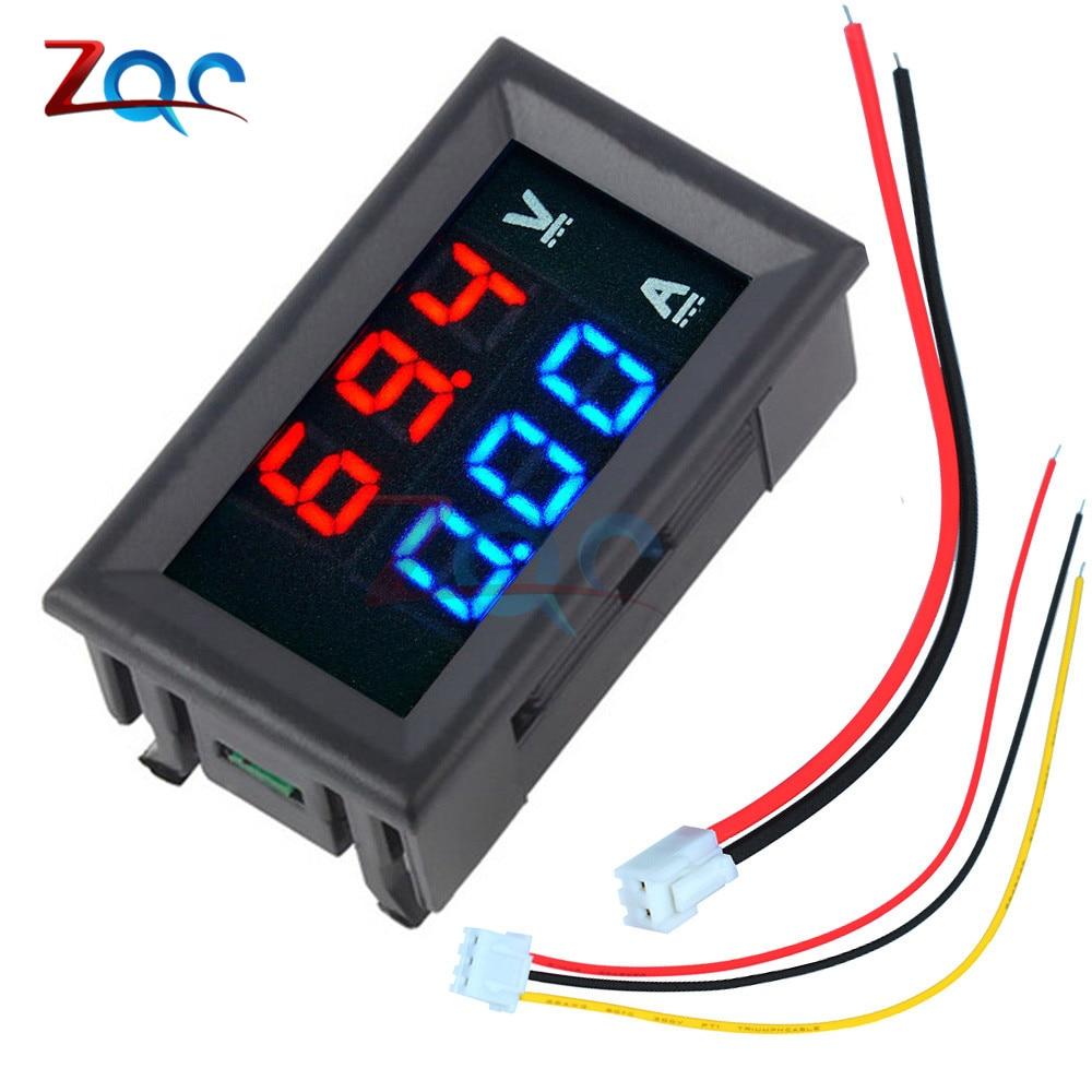 """Тестер для автомобиля, цифровой вольтметр, амперметр, измеритель переменного тока 100 В 10A с двойным светодиодным дисплеем 0.56"""" dual led display voltmeter ammeter dcdigital voltmeter ammeter   АлиЭкспресс"""