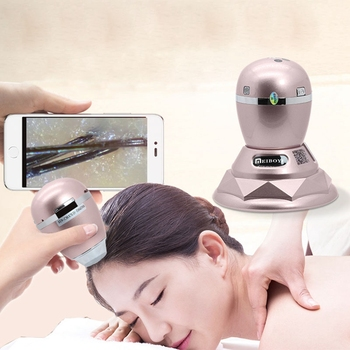 3MP Wireless Digital WIFI Microscope Smart Hair Scalp/Skin Detector IMedical Cosmetology Microscope for Skin Scalp Care Analysis цена 2017