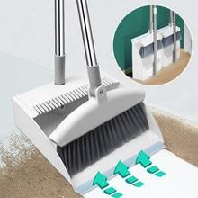 Limpeza de chão vassouras dobrável dustpan coletor de lixo cozinha escritório conjunto ferramentas para escova arrebatadora produtos domésticos mais limpo