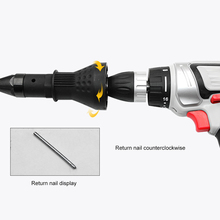 Electric Rivet Nut Gun Rivet Nut Tool Cordless Adapter Rivet Drill Bits Set Nut Gun Insert Threaded Pull Setter 6pcs