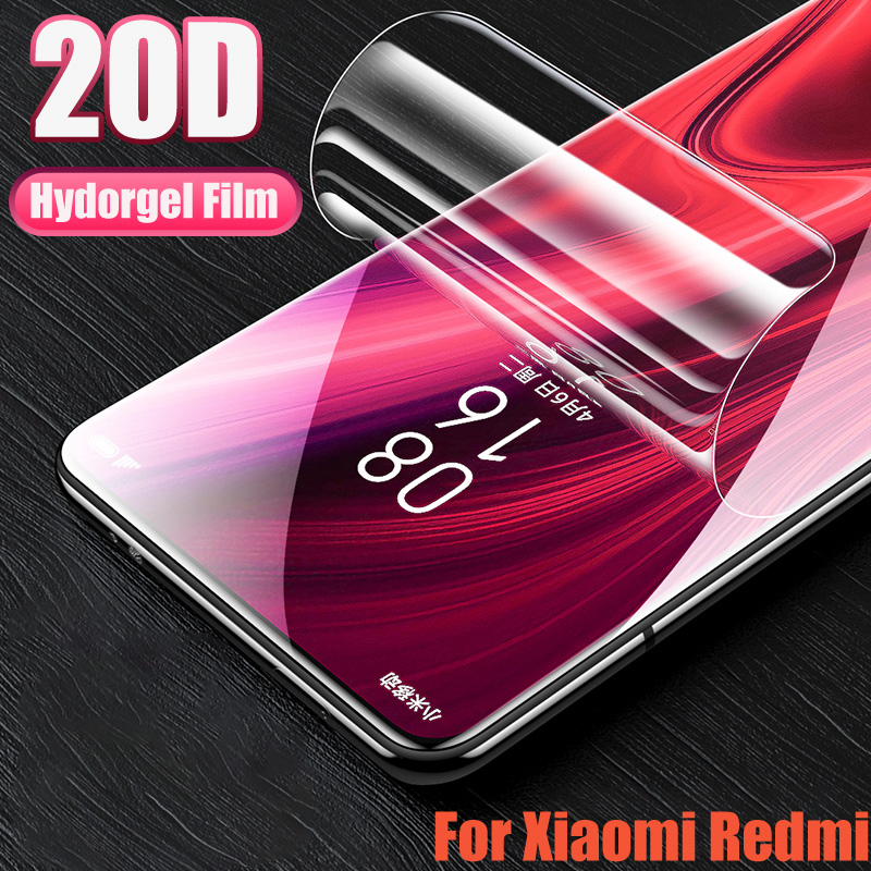 Full Cover Hydrogel Film For <font><b>Xiaomi</b></font> Redmi Note 8 K20 Pro 8 8A 7A Go <font><b>Mi</b></font> <font><b>9</b></font> A3 Lite 9T CC9 Pro Note 10 9X <font><b>Screen</b></font> <font><b>Protector</b></font> No <font><b>Glass</b></font> image