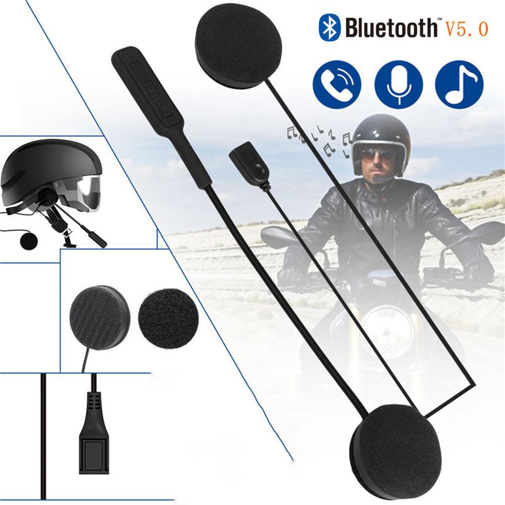 Мото шлем Bluetooth 5,0 Гарнитура Анти-помехи для мотоциклетного шлема для верховой езды Интерком мото свободные руки наушники MP3 колонки
