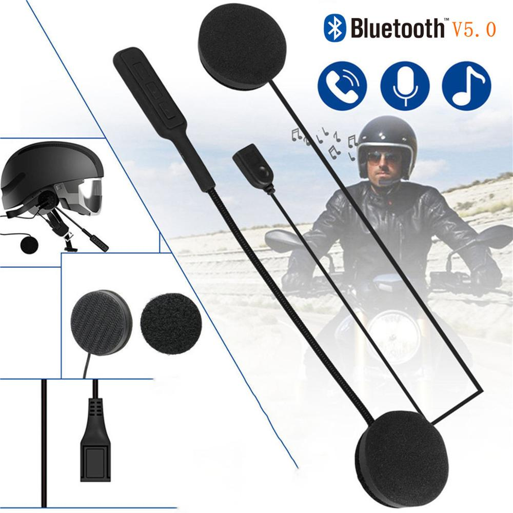 Moto Helmet Headphone Speakers Hands Bluetooth Riding Free Anti-Interference for Intercom title=