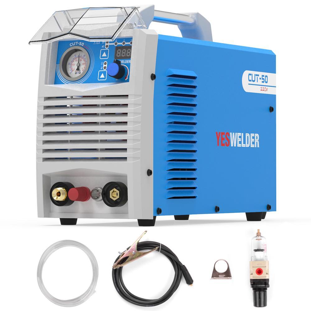 YESWELDER Maszyna tnąca plazmowa CUT-50/60 DC jednofazowy 220V 50amps/60amps falownik palnik plazmowy 20mm maksymalna grubość cięcia