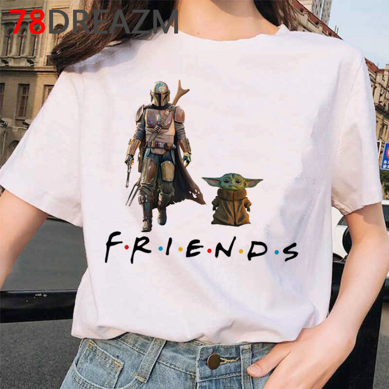 Baby Yoda T Shirt Women Kawaii Cartoon Mandalorian 2020 90s Funny Harajuku  T-shirt Yoda Cute  Ulzzang Hip Hop Top Tees Female