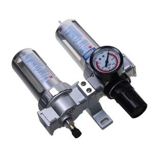 Image 4 - Air Compressor Oil Lubricator Moisture Water Trap Filter Regulator With Mount SFC 200 1/4 1/2 3/8 0 1Mpa 0 150 PSI