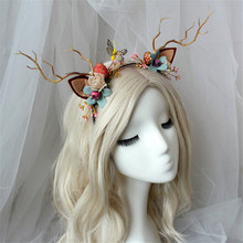 faun antler deer headband christmas party deer cosplay props girls headbands horns hairdresser reindeer antlers headpiece the marble faun