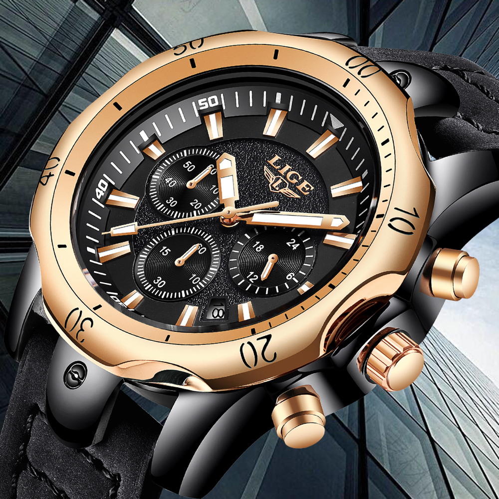 New 2020 Clearance watches for sale at low prices. Time is limited to three days, LIGE men watch top brand luxury watches men
