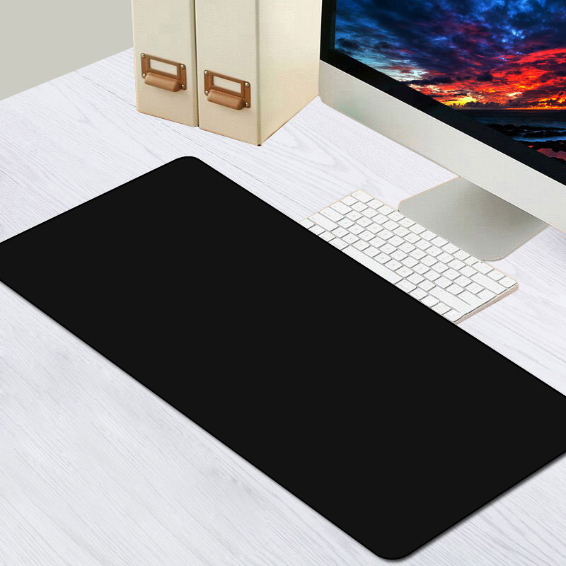Extra Large Black Gaming Mouse Pad Locking Edge Anti-slip Anime Mousepad Desk Mat Xl Xxl Natural Rubber For CSGO Dota Gamer