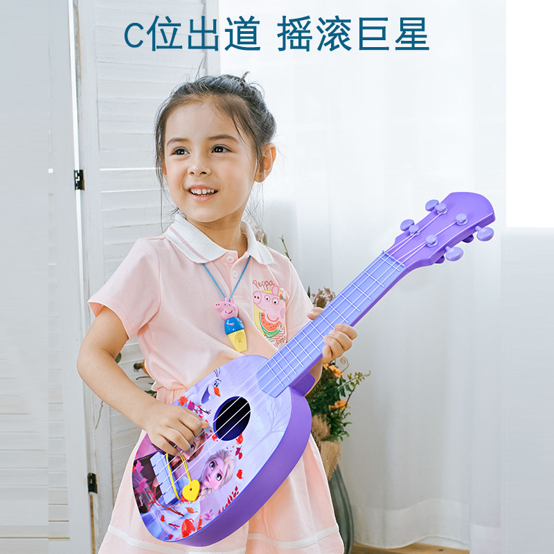 Disney Girls Frozen 2 Princess Elsa Anna Guitar Toy Musical Instrument  Magic Learning Education Toys For Children Gift