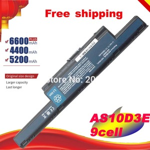 New 9 cells Laptop Battery For Acer Aspire AS10D31 AS10D51 AS10D61 AS10D71 AS10D75 AS10D81 V3 5741 5560 v3-771g 5560G Free shipp